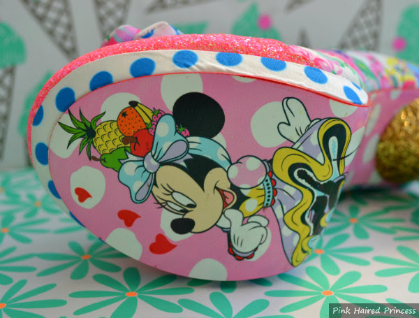 minnie mouse shoe sole close up