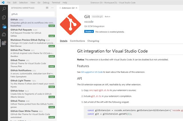 Visual Studio Code - Git Intégration