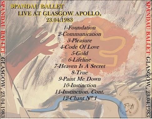 fresh alive en vivo y en directo spandau ballet live at glasgow apollo. Black Bedroom Furniture Sets. Home Design Ideas