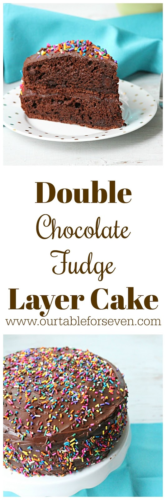 Double Chocolate Fudge Layer Cake from Table for Seven