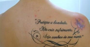 Tatuagens Femininas 20 Tatuagens Femininas Com Frases