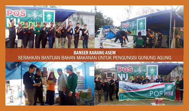 Tak Banyak Bicara, Ansor Banser Bergerak Bantu Pengungsi Gunung Agung Bali