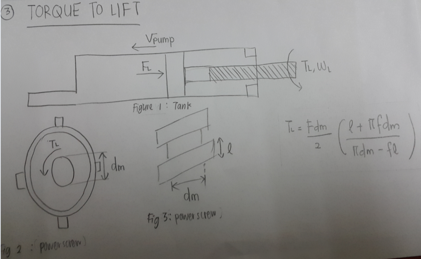 CALCULATION OF TORQUE TO LIFT