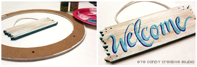 hand lettering, welcome, hand lettered, welcome sign, beach sign