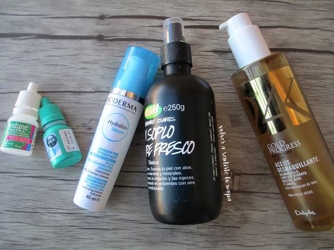 Productos beauty acabados de cuidado facial