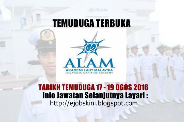 temuduga terbuka akademi laut malaysia (alam) ogos 2016