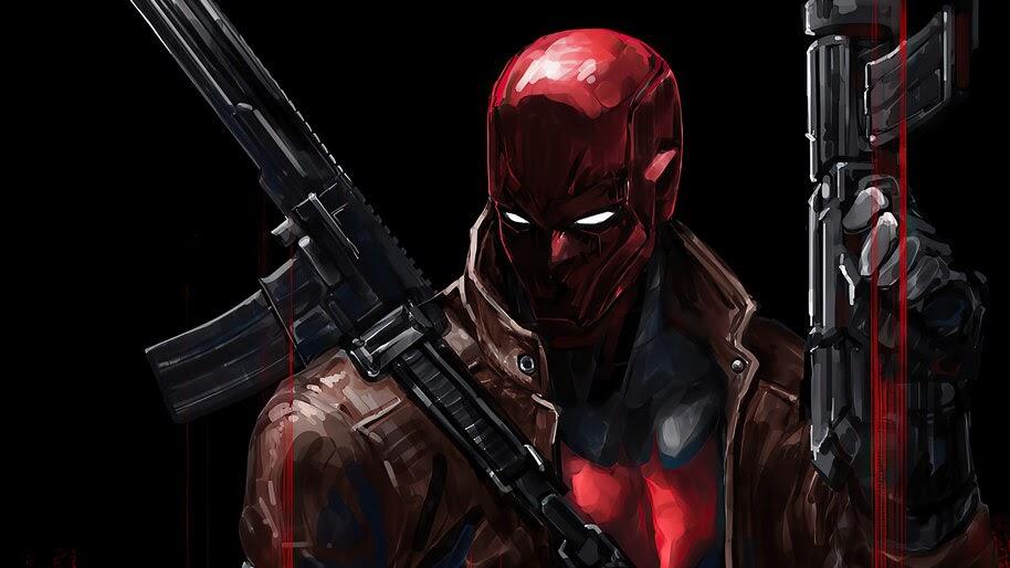 Red Hood, Guns, Weapons, 4K, #6.2407