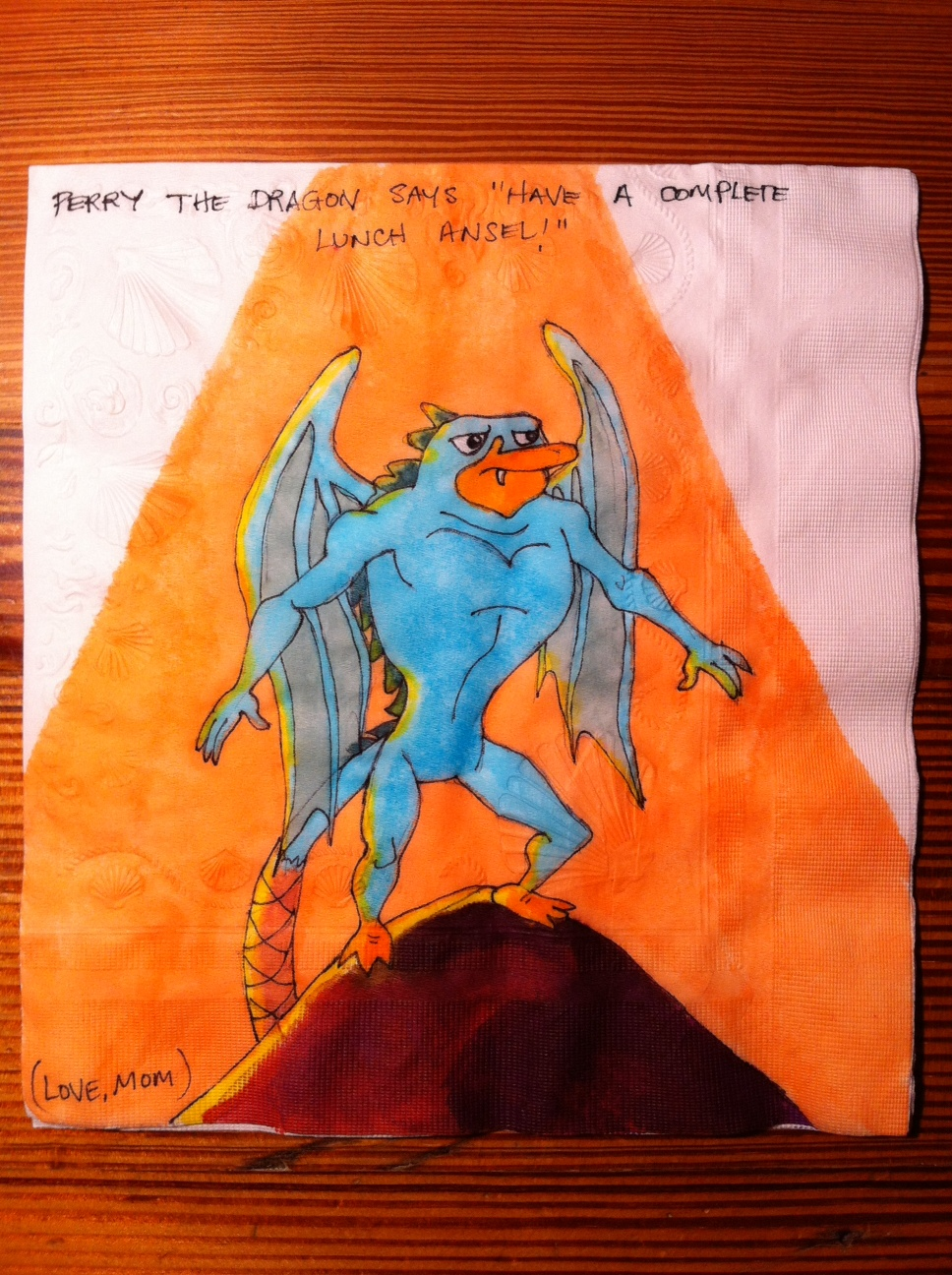 Daily Napkins: Perry the Dragon for Ansel