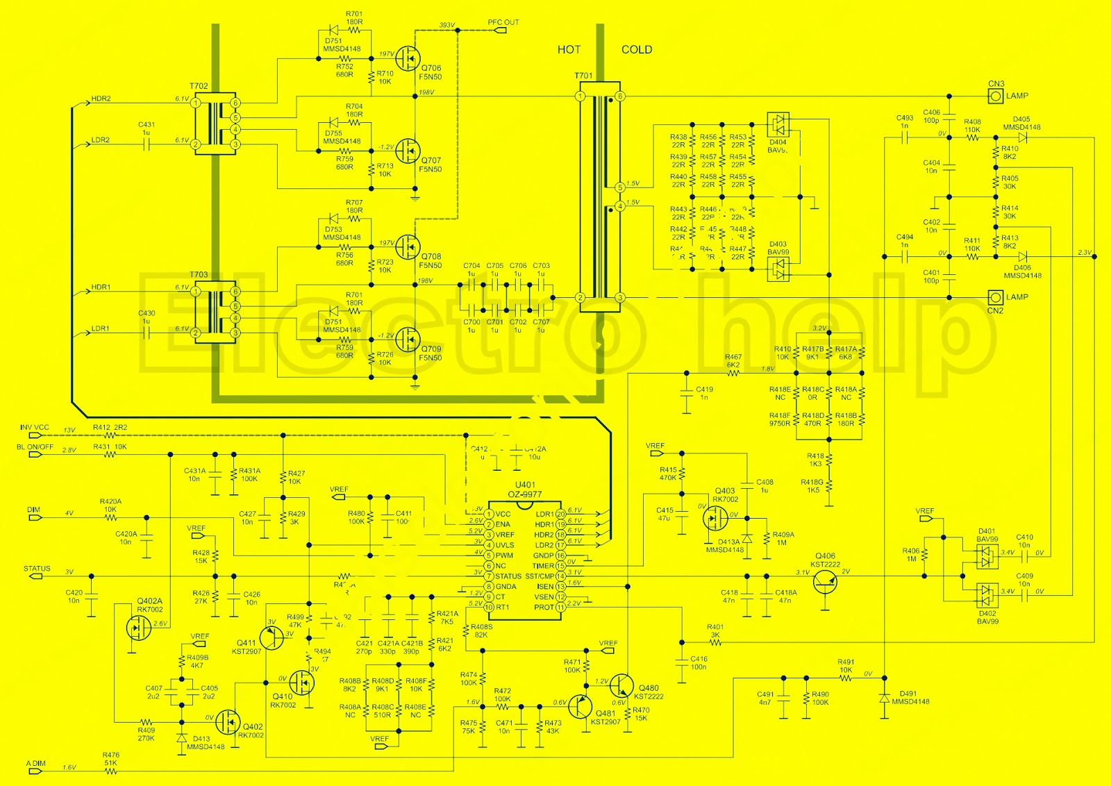 Electro Help Philips 40pfl3606 Lcd Tv Power Supply Schematic Www 40pfl3605 Smps