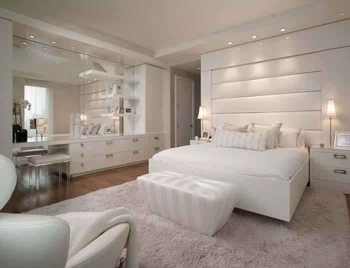 beyaz yatak odası aydınlatması