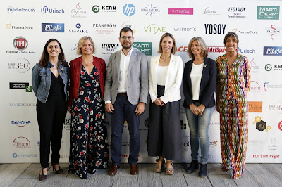 (de izquierda a derecha): Nuria Balada (Presidenta Institut Català de les Dones), Rosa Cuscó (Co-Fundadora W360C), Oriol Alcoba (Esadecreapolis), Àngels Chacon (Consellera d'Empresa i Coneixament), Carmela Fortuny (Alcaldesa de Sant Cugat), Lidia Codinachs (Co-Fundadora W360C).