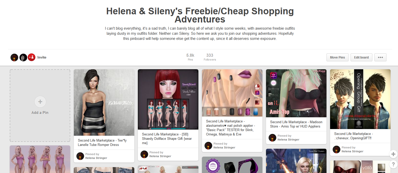 a296b0e7a I was looking for a few things, and pinned a bunch of stuff I found from SL  Marketplace for you guys today. I also had done a makeup roundup in Dec, ...