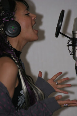 Anna-Christina from Lilygun recording vocals photo