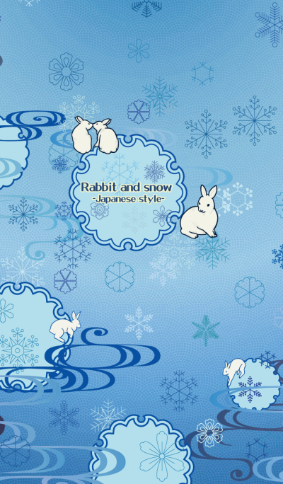 Rabbit and snow-Japanese style-