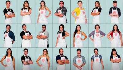 Os 21 cozinheiros amadores da quarta temporada do MasterChef - Divulgação/Band