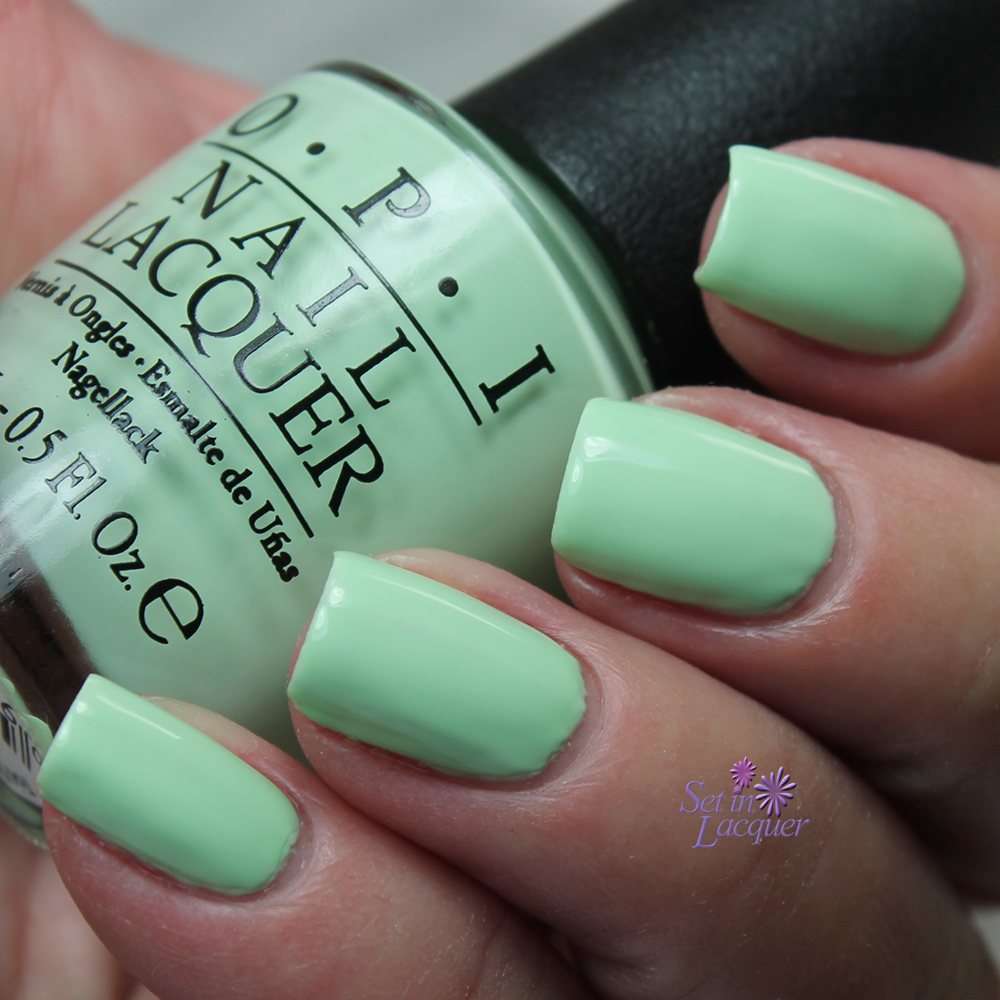 neon green nail polish opi to bend light