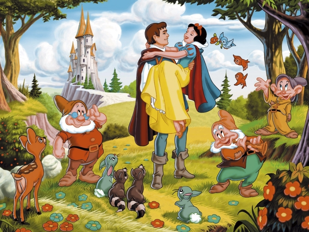 Snow White and Prince Charming Snow White and the Seven Dwarfs 1937 animatedfilmreviews.filminspector.com