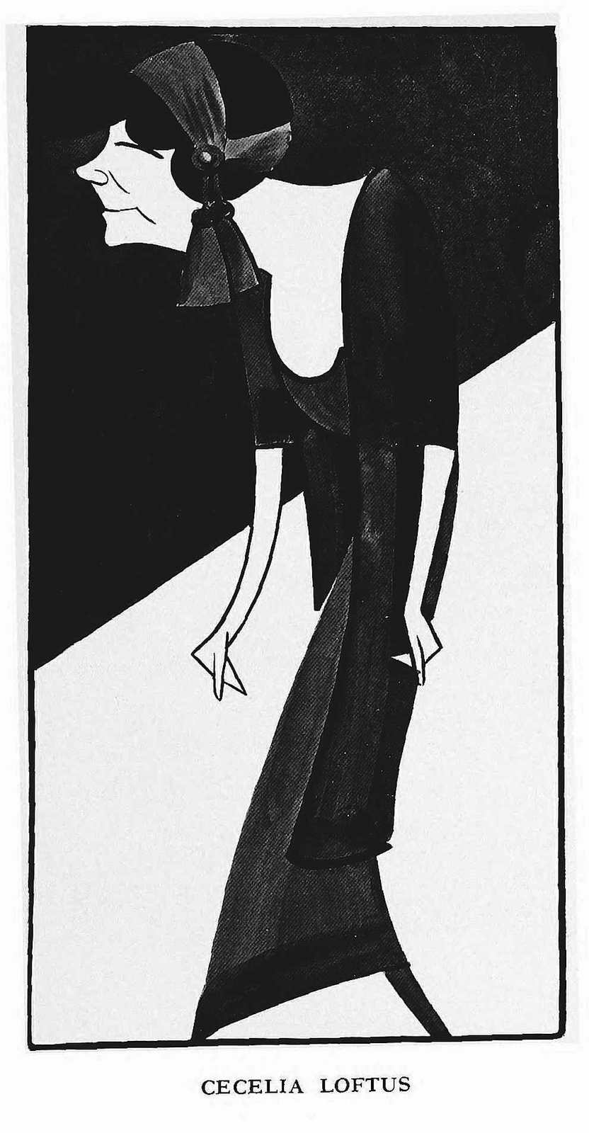 Vaudeville performer Cecelia Loftus, 1915