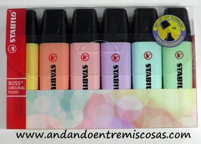 Marcadores en color pastel de Stabilo
