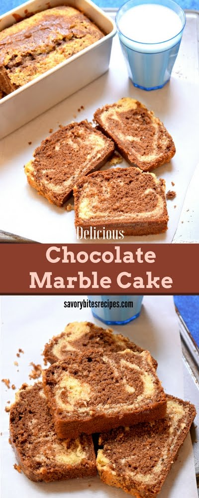Vanilla Chocolate Marble Cake Sponge Cake Soft Cake