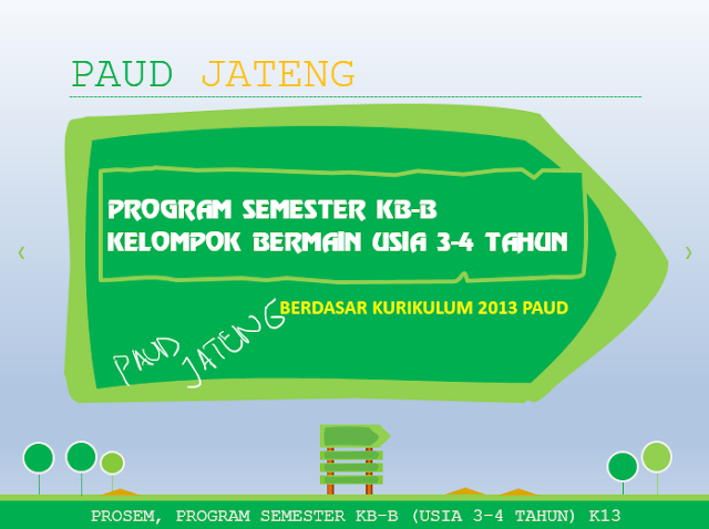 program semester kurikulum 2013 kelompok bermain usia 3-4 tahun prosem kb-b download program semester 1 tahun lengkap