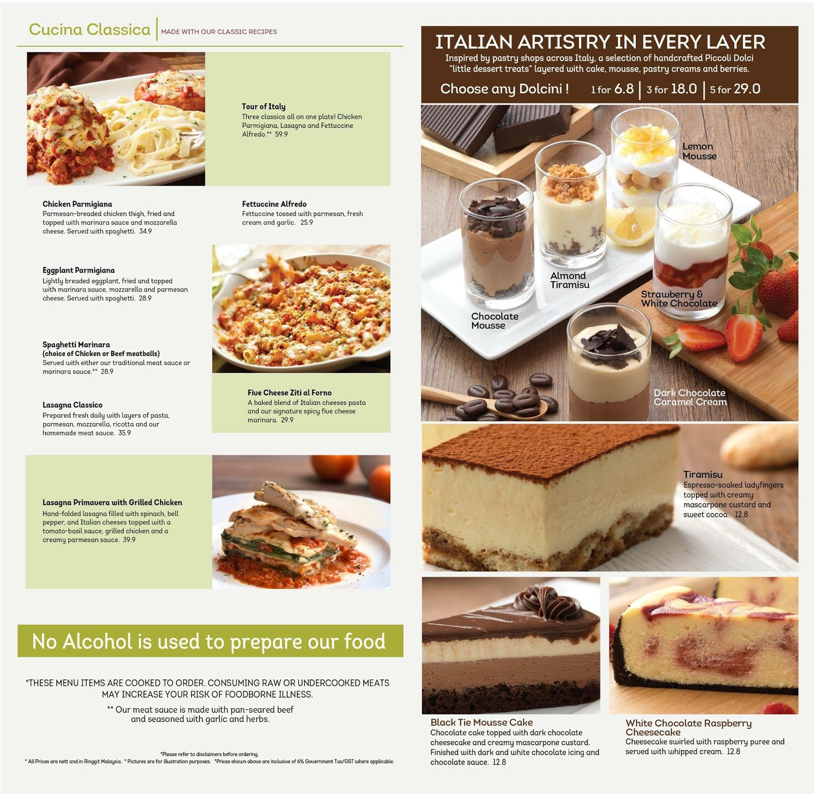 I Love Food Olive Garden Comforting All Time Favourite Italian Classics