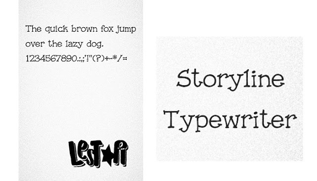 StoryLine Typewritter Font itz for Vivo