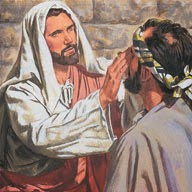 Resultado de imagen para Llegan a Betsaida. Le presentan un ciego y le suplican que le toque