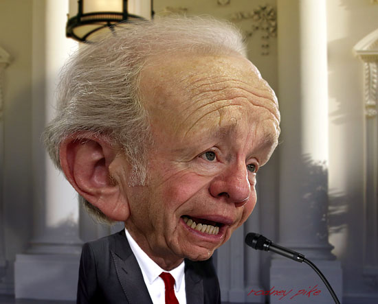Joe Lieberman Caricature - Click here for extreme high resolution