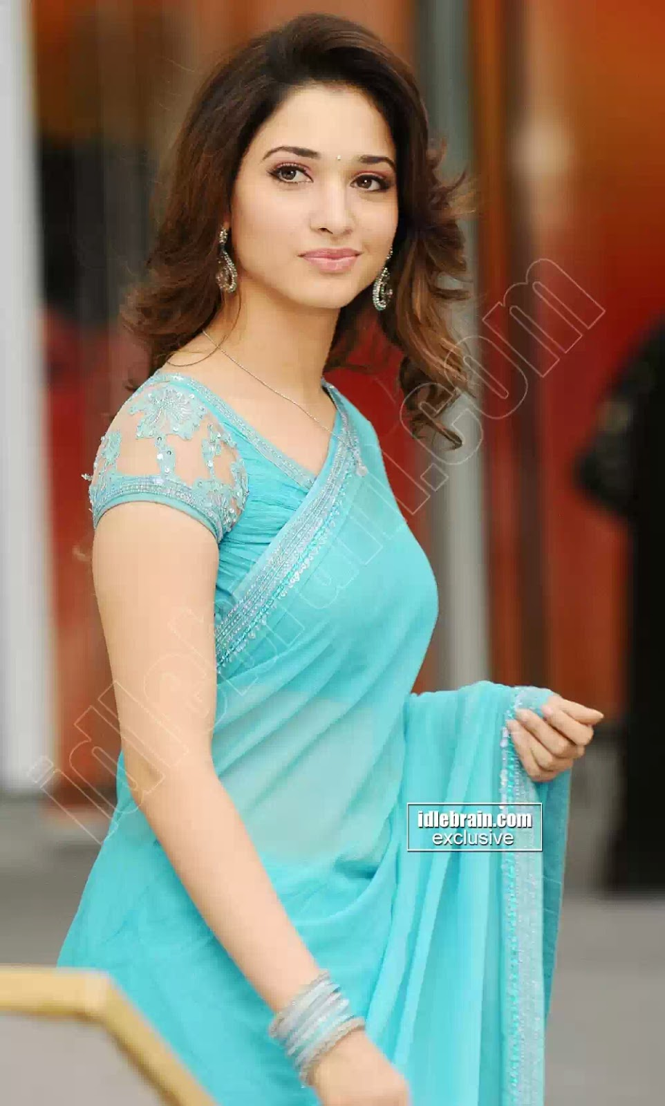 OnLy AcTrEsS: Tamanna Front And Side View Hot In Blue