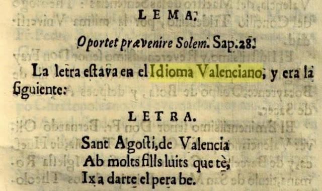 Sant Agosti, de Valencia ab molts fills luits que tè, ix a darte el pera be.