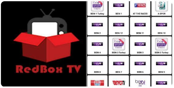 تطبيق RedBoxTV مشاهدة القنوات المشفرة عبر تقنية IPTV بجودة عالية .