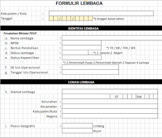 kali ini admin akan membagikan informasi mengenai seperti apa sih Format Formulir Lembaga Contoh Format Formulir Lembaga PAUD dan DIKMAS