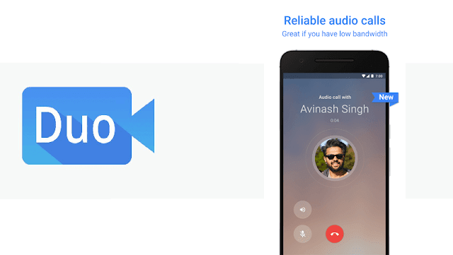 Google-Duo-udpate-with-audio-calling-feature Google Duo v10 Apk : For Those who Don't get the audio calls Feature Android