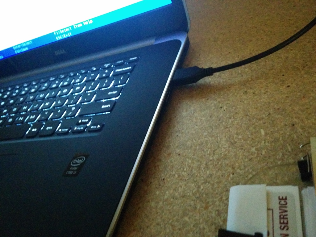John Willis: Dell XPS 15, PXE booting over USB NIC