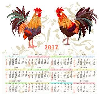 2017カレンダー無料テンプレート240