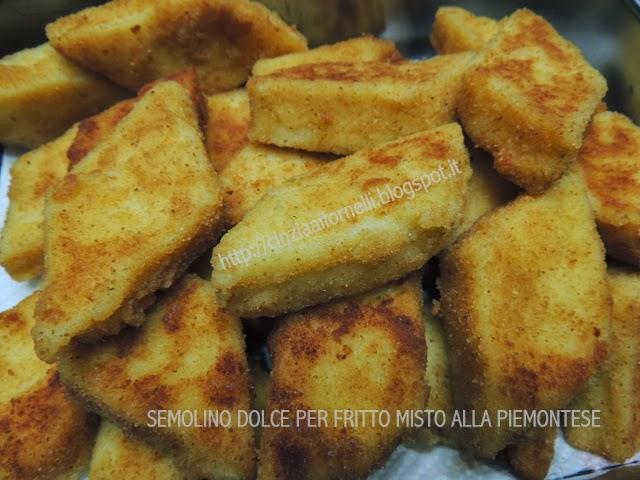 semolino dolce fritto alla piemontese
