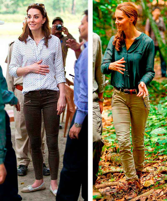 Looks Sáfari: Kate Middleton na India