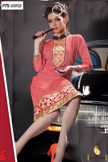 Pink Color New Fashion Style Of Designer Party Wear Kurtis In Western Look Online Shopping 2016