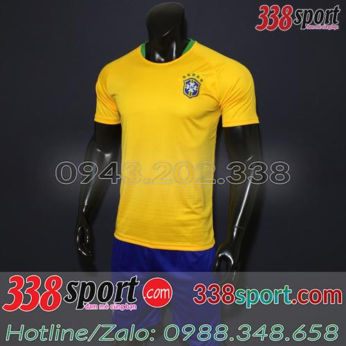 Áo Đội Tuyển Brazil Vàng 2018 Sân Nhà