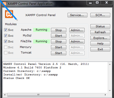 how to run php in xampp server