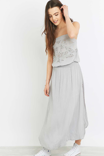 somedays loving grey maxi dress, grey embroidered maxi dress,
