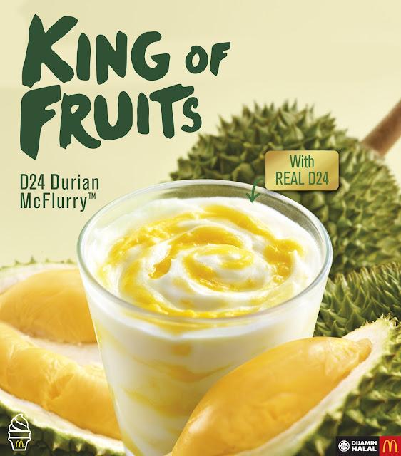 McDonald's D24 Durian McFlurry Price RM7.99