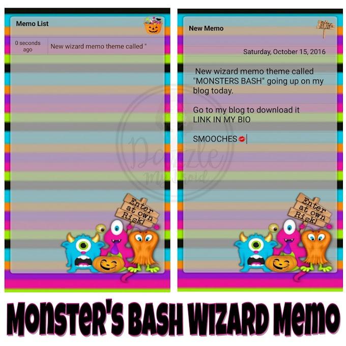 Monster BASH wizard memo