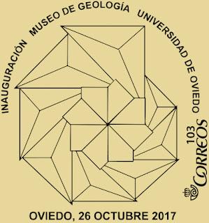 Matasellos del Museo de Geología de Oviedo