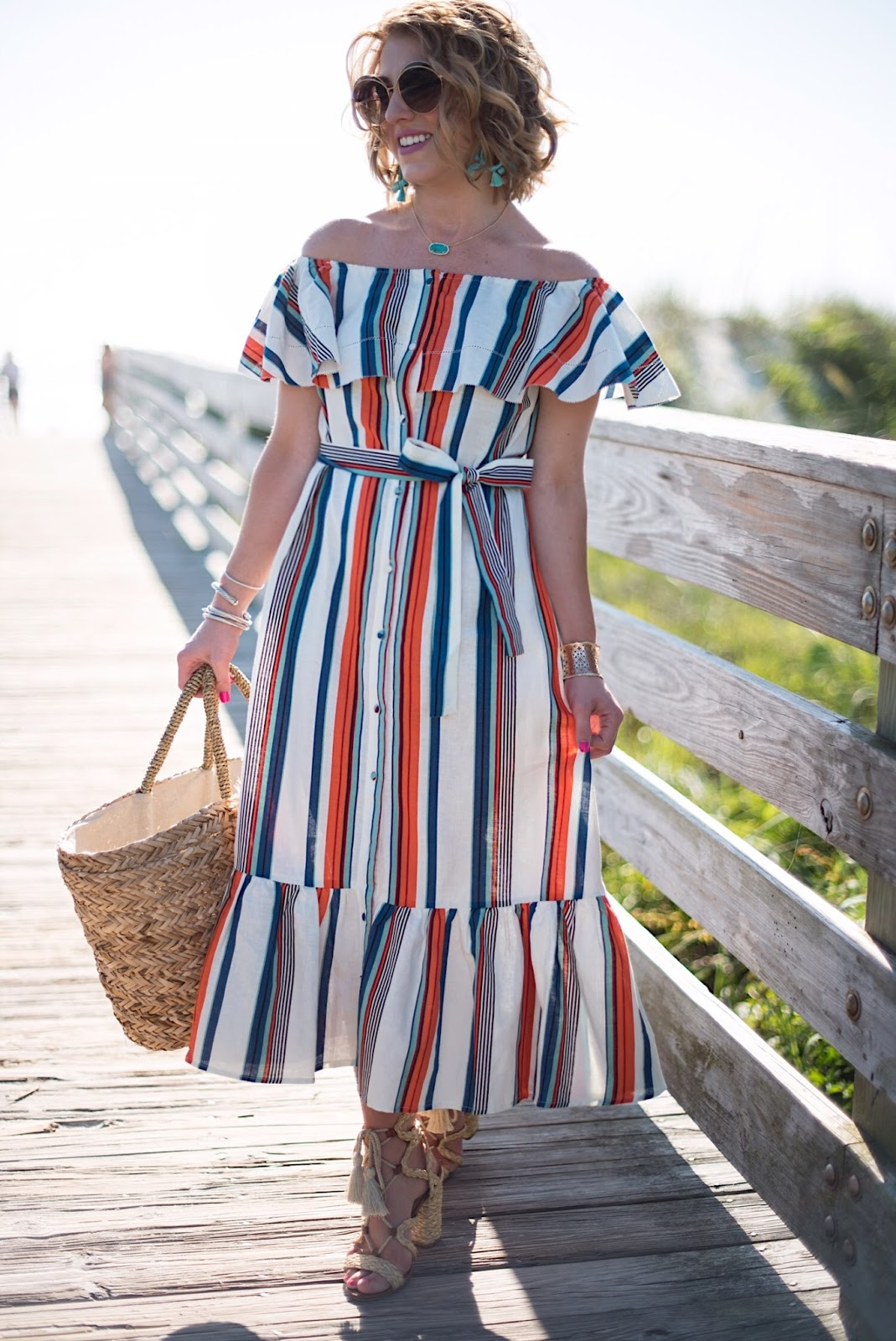 Striped Maxi Dress - Click through to see more on Something Delightful Blog!