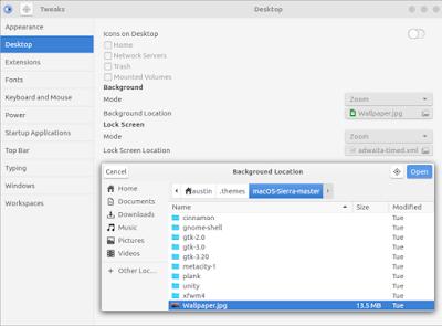 طريقة تغيير واجهة نظام لينكس Lunix إلى نظام ماك