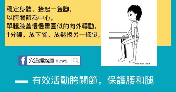 中醫理療!有效活動胯關節,保護腰和腿(簡單實用)