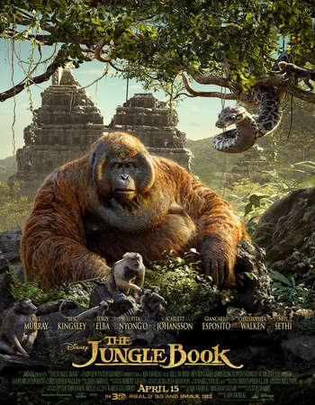 The Jungle Book 2016 Hindi Dubbed 300MB pDVDRip 480p x264