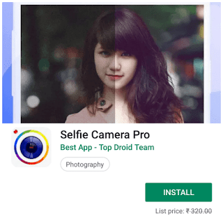 Selfie Camera Pro paid android app